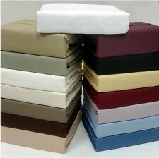 Bed Sheets Set 1000 Thread Count 100% Solid Organic Cotton Sheet Set