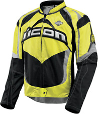 Mens icon contra mil-spec yellow motorcycle riding street racing jacket military