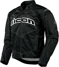 Mens Icon Black Contra Armored Textile Motorcycle Riding Street Racing Jacket