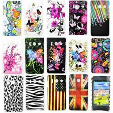 Colorful Flower Hard Shell Phone Skin Plastic Case Cover For Huawei Ascend Y300