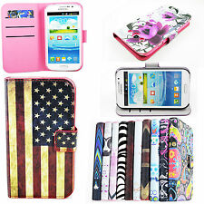 Flip Leather Phone Wallet Skin Cover Case For Samsung Galaxy Grand Duos i9082