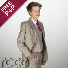 Boys Beige Suit, Boys Beige Page Boy Suit, Boys Smart Suit
