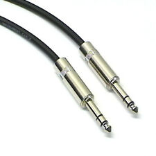 """Balanced Patch Lead TRS Re'an 6.35mm Jack, Flexible Cable 6"""" to 30""""  4 Colours"""