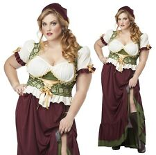 Sexy Medieval Peasant Tavern Wench Plus Size Costume