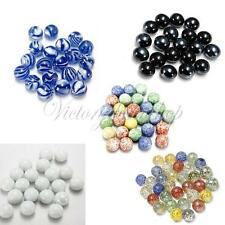 10 Pcs COLOURFUL 16MM GLASS MARBLES FOR TRADITIONAL GAME OR COLLECTORS HOM