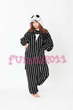 NEW Kigurumi Pajamas Jack Skellington Cosplay Costume Party jumpsuit hot