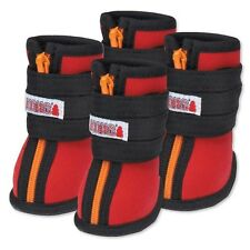 Red KONG High Top Neoprene Dog Winter Boots Shoes Snow Boots Dog Snow Shoes