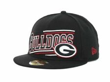 "Georgia Bulldogs NCAA New Era 59Fifty ""Angular"" Fitted Hat New"