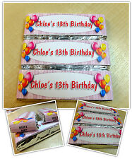 Personalised Chocolate Birthday Party Bag Favours - Wrappers or Pre-made! N7