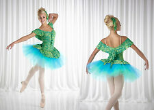MONET Ballet Tutu Dance Costume Waterlillies CS,6X7,CM,CL,AS,AM,AL,AXL,2XL   304