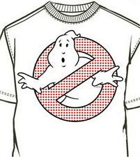 Ghostbusters Red Dots Logo White Mens Shirt GB054MSW