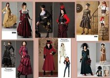 Steampunk Victorian Costume Simplicity Sewing Pattern Misses Size With Plus Size