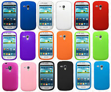 For AT&T Samsung Galaxy S3 MINI i8190 Rubber SILICONE Soft Gel Skin Case Cover