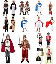 PERIOD GIRL BOY FANCY DRESS COSTUME. AGE 4-6 7-9 10-12 VICTORIAN TUDOR KNIGHT