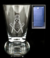 Krosno Crystal Masonic G Firing Glass Engraved With The Compass And Square Logo