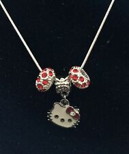 Hello Kitty Necklace with  Charm with Crystals