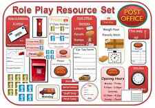 Role play resource sets EYFS KS1 post office classroom display home corner area