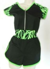 NWT Hip Hop Romper Zipper Front Capsleeve  3 colors available Adult/Child Sizes