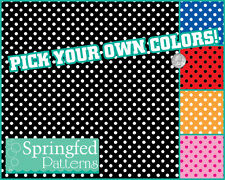POLKA DOT PATTERN VINYL #1 Craft Vinyl Decal Sheets Scrapbooks CUSTOM COLORS!