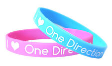 I Love One Direction Siicone Rubber Wristbands (Pink & Blue) - Free UK Postage!