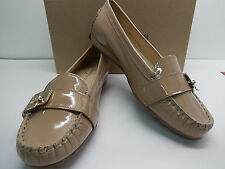 Cole Haan Tali Lock Sandstone Patent Leather Moccasin With Gold Hardware-New