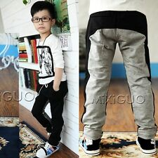 New Toddlers Boys Girls 100% Cotton Casual Pants Warm Trousers 4-11Y P442