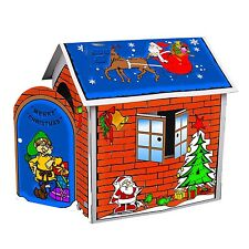 DIY Christmas Cardboard Playhouse Kid Play Toy Paper Coloring House Party Decor