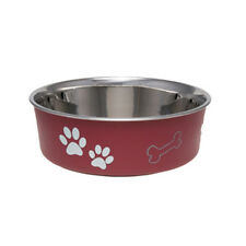 Loving Pets BELLA BOWL  Stainless Steel MEDIUM Dog Feeder Bowl 5 COLOR CHOICES