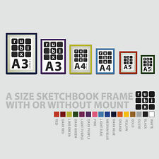 A5 A4 A3 Picture Frame for Artwork Photograph Certificate- Black White + Colours