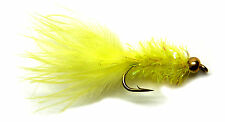 3x, 6x or 12x Fly Fishing Trout Flies (SCOT29) YELLOW IPN FRITZ LURE Trout Fly