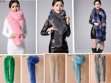 Woman noble  fox fur collar raccoon fur scarf shawl collar Long Scarves 6 color