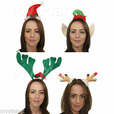 CHRISTMAS PARTY HAT XMAS HAIR HEAD BAND FESTIVE UNISEX DECORATIONS FUN HEADBAND