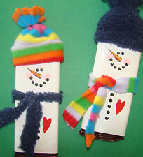 30 Christmas Holiday SNOWMAN Candy Bar Wrapper Label DIY Craft Show Fundraiser