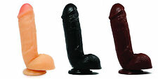 "8.5"" Flexible Thick Big Cock Dildo Dong Sex Toy Suction Cup Harness Compatible"