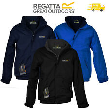 Regatta Mens Jacket Fleece Lined Dover Waterproof Hooded Full Zip Hydrafort New