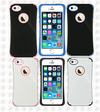 For iPhone 5 5S SE HARD Hybrid Fusion Hard Rubber Silicone Case Phone Cover