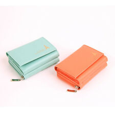 New Womens Wallet KOREA -20 Cute Leather Zip Coin Trifold Holder Purse So Hot ★
