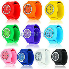 New Slap On Snap On Quartz Silicon Rubber Sports Watch 2013 Fashion Xmas Gift