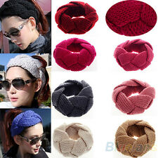 Fashion New Crochet Twist Knitted Headwrap Headband Winter Warmer Hair Band BF4U