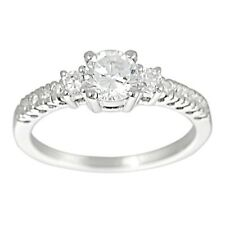 Tressa Collection Sterling Silver CZ Bridal & Engagement Ring