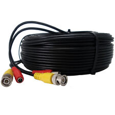 100FT Black CCTV Secutiry Camera Cable Video and Power Cord Lots of 1 2 3 4 5 6