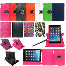 For Apple iPad Mini 2 Tablet Leather 360 Degree Rotating Smart Case Cover+Stylus