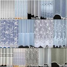 LUXURY VOILE NET CURTAINS SLOT TOP ~ PLAIN  FLORAL BUTTERFLY special Drop Sizes