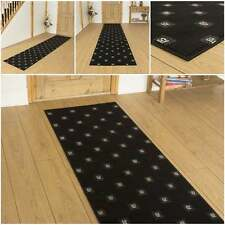Square Black - Hallway Carpet Runner Rug Mat For Hall Extra Very Long Cheap New