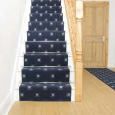 Square Blue - Stair Carpet Runner For Narrow Staircase Modern Quality Cheap New