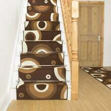 Circle Brown - Stair Carpet Runner For Narrow Staircase Modern Quality Cheap New
