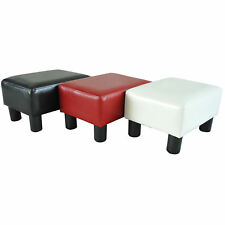 Modern Faux Leather Ottoman Footrest Stool Foot Rest Small Chair Seat Sofa Couch