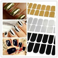 NEW 16X Smooth Cool Nail Art Sticker Patch Foils Armour Wraps DIY Decoration