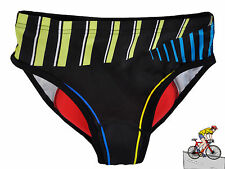 New Women Stripe Cycling Short Pant 3D Gel Padded Cycle Bicycle Underwear Shorts
