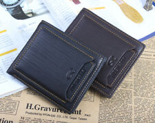 Man Money leather Wallet Pockets ID credit Card holder Clutch Bifold Purse